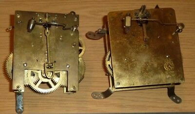 Two German mantel clock movements c1930 for spares
