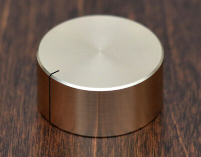 Solid Aluminum Volume Knob 32x15mm 6mm shaft - Rose Gold Anodized - US Seller