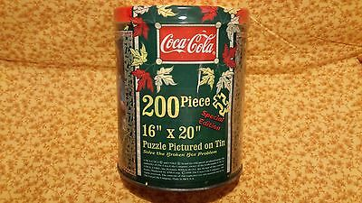 Coca-Cola 200 Piece Puzzle In A Tin---New  756621100963