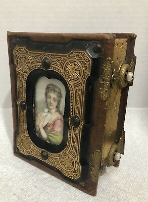 Ornate Leather Victorian Photo Album 1800's Tintype