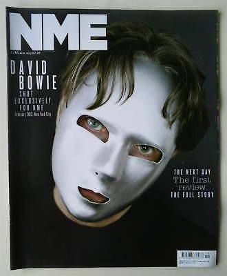 DAVID BOWIE RARE MASK COVER NME Mag, The Next Day Exclusive, 2 March 2013