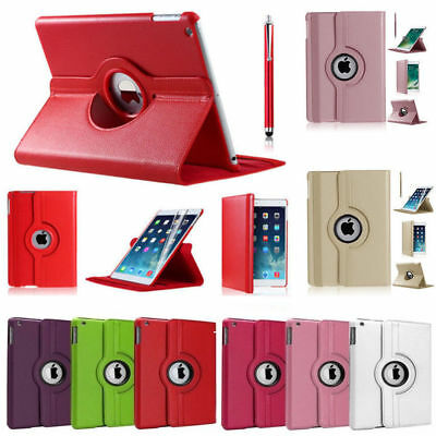 New PU Leather 360 Degree Rotating Smart Stand Case Cover for Apple iPad Models