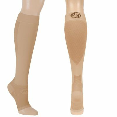 OrthoSleeve FS6+ Compression Foot and Calf Sleeves - Small - Natural
