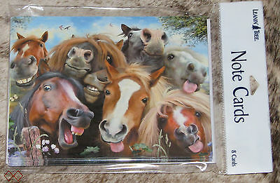 LEANIN TREE Laughing Comical Horses Selfie #35559~8 Notecards~Howard Robinson