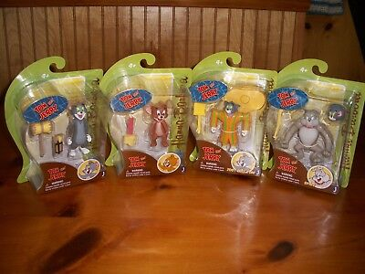 4 ~NEW~ Tom and Jerry Figurines. Spike & Zoot suit Tom regular Tom & Jerry