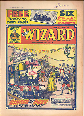 THE WIZARD No.1791,JUNE 11th,1960:PUBLISHER D.C.THOMSON,28 PAGES,NO FREE GIFT