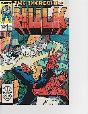 The Incredible Hulk #349 vs Spider-Man! Mr. Fix It  FREE SHIPPING AVAILABLE!