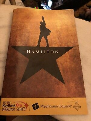 Hamilton The Musical Playbill Cleveland Openning Night