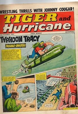 "VINTAGE ""TIGER and HURRICANE"" COMIC DATED  16th OCTOBER 1965"