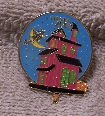 2008 Fiesta Witch's Haunted House Balloon Pin