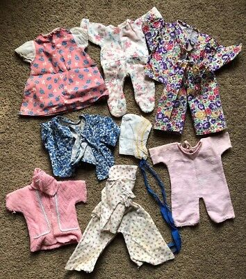 Vintage 8pc lot of Vintage Effanbee Dy-dee Clothing Baby Doll Pajamas/Dress/Robe