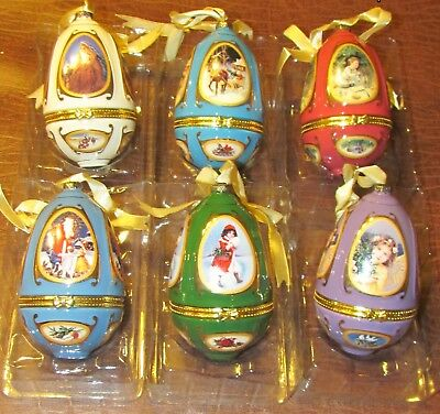 "2008 Mr. Christmas Valerie Parr Hill   Musical Egg   5"" Ornament"