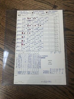 e3ac6aadf12 1977 Milwaukee Brewers Vs Baltimore OrioleS Used Lineup Card Robin Yount
