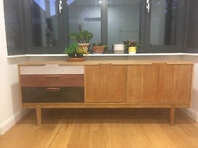 Rare Vintage 60s Retro Mid Century Danish Sideboard by Nathan, Corsica