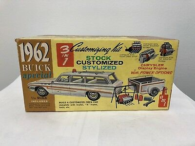 Amt 1962 Buick Special Station Wagon & Trailer 1/25 Assembled Model Kit