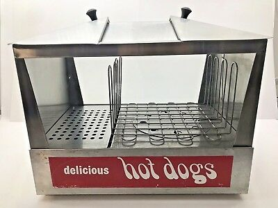 Commercial STAR HOT DOG & BUN WARMER STEAMER MACHINE Roller Cooker