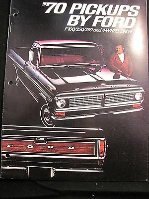 1970 Ford Pickups Original Sales Brochure F-150/250/350 And 4-Wheel Drive