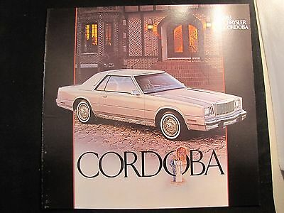 1983 Chrysler Cordoba Original Sales Brochure Ls
