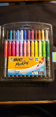 BIC Marking Fashion Permanent Marker, Fine Point, Assorted Colors, 24-Count, New