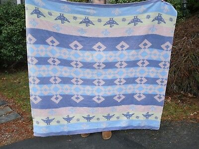 VINTAGE Southwest DESIGN TRADE Camp BLANKET THUNDERBIRDS Possibly Beacon