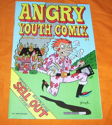 ANGRY YOUTH COMIX #1 Johnny Ryan VF/NM 9.0