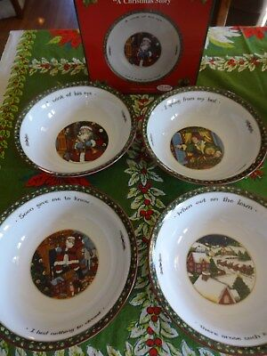 Portmeirion A Christmas Story  Set of 4 All Purpose Bowls