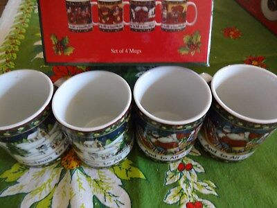 Portmeirion A Christmas Story  Set of 4  Coffee Mugs with Box