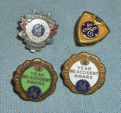 Vintage Lot of GE Service Award Pins Hanford Works Nuclear Site
