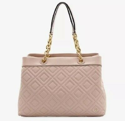 bce242ba8bc2  498 Nwt Tory Burch Fleming Small Tote Crossbody New Mink Sold Out Color!