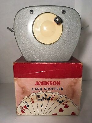 Vintage Nestor Johnson Mfg Co Model 50 Card Shuffler In Original Box