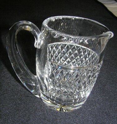 WATERFORD Fine Crystal Alana Pattern Creamer Pitcher Small Ear Handle