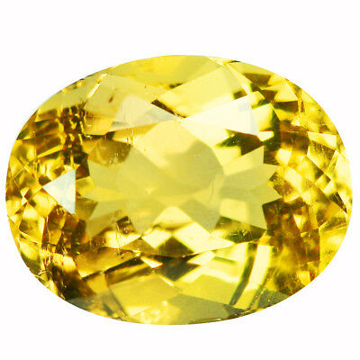 2.83Ct VS Oval Cut 10 x 8 mm 100% Natural Yellow Beryl