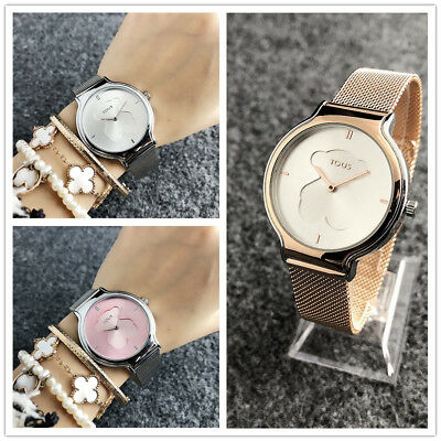 New Design Teddy Bear Watch Stainless Steel Watch For Woman Quartz Watches