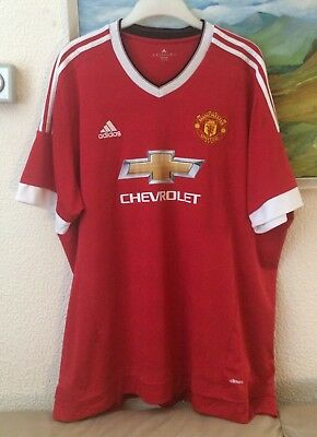 MANCHESTER UNITED home shirt size 3XL 2015 - 2016 shirt & in EXCELLENT CONDITION