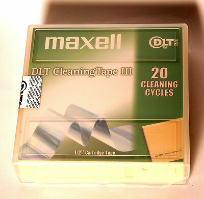 "Maxell DLT Cleaning Tape III Reinigungsband 20 Zyklen 1/2"" Cartridge"