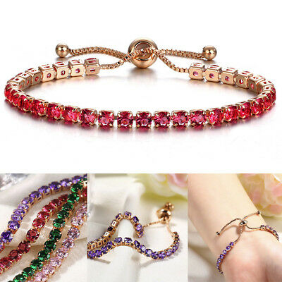 Fashion Cubic Zirconia Adjustable Bracelet Bangle For Women Wedding Jewelry Gift