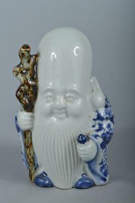 R4261: Japanese Kutani-ware Treasure pattern JUROJIN STATUE sculpture Doll