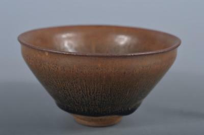 R4992: Chinese Black glaze TEA BOWL Tenmoku chawan, auto Tea Ceremony