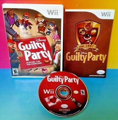 Disney Guilty Party Nintendo Wii Wii U 1-4 player game tested & fun ! Complete !