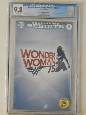 Wonder Woman: Rebirth #1 SDCC Panel Variant CGC 9.8
