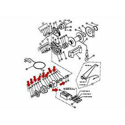 Warn 8409 Winch Replacement Brake Service Kit Part Repair Assembly