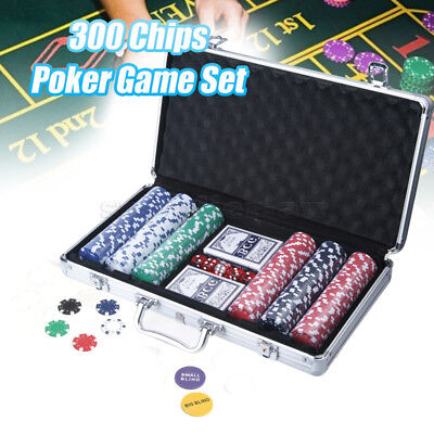 300 Chipset Poker Game Play Chip Set Casino Chips Dice Gamble Cards AU STOCK