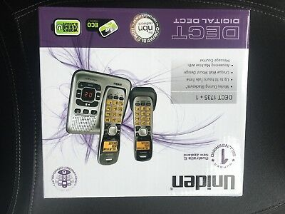 Uniden DECT1735 Cordless Telephone System - Silver