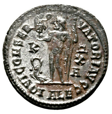 CONSTANTINE THE GREAT (316 AD) Rare Follis, Alexandria #IU 1101