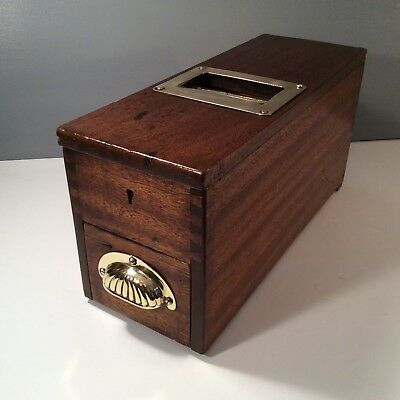Vintage Gledhill Mahogany Shop Till With Bell And Cash Drawer