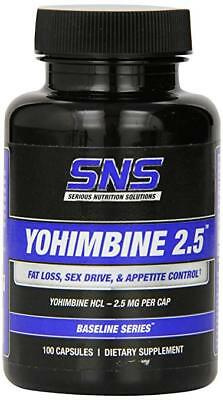 Serious Nutrition Solutions (SNS) Yohimbine HCL 2.5mg - 100 Cap
