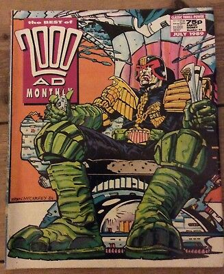 Judge Dredd 2000 AD Monthly Number 46 July 1989 Best of Dredd McCarthy cover