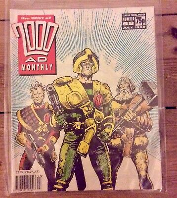 Judge Dredd 2000 AD Monthly Number 58 July 1990 Best of Strontium Dog Ezquerra