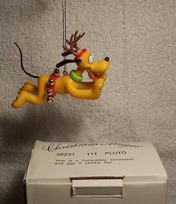 Grolier Ornament PLUTO #111 Christmas Magic Collection MIB Disney Mickey Mouse