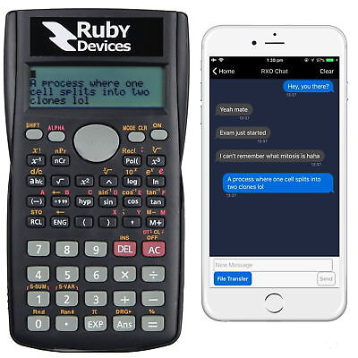 Exam Cheat - Text Messaging Calculator - Ruby Calculator - EXPRESS POST